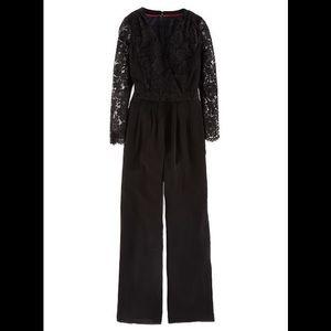 Boden  black jumpsuit with lace detail 8